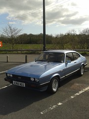 Ford Capri 2.8 Injection A366NGS (Andrew 2.8i) Tags: ford capri 28 injection classic car carmarthen carmarthenshire blue all types transport