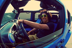 iluv My Brother (dr.7sn Photography) Tags: blue smile lens jeep afro fisheye trail hydro doctor polar jeddah edition  wrangler rated rayan         rasel      alshehri      ilrasli