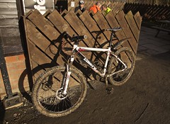 #Bicycle (Nanny Bean) Tags: bicycle mud january mountainbike flickrfriday pinchinthorpe branchwalkway