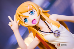 Oreimo - Kirino Kousaka Casual Clothes ver. Repaint (GabrielVH) Tags: cute stockings canon blueeyes skirt 7d 60mm redskirt yellowhair pantsu 18scale pvcfigure flickrsafe kaitendo orenoimoutogakonnanikawaiiwakeganai kirinokousaka
