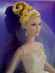 Wedding Day Cinderella Doll by Mattel - Disney Cinderella Live Action Film - Deboxing - Attached to Backing - Portrait Left Front View (drj1828) Tags: wedding bride us amazon doll princess disney cinderella weddingday purchase mattel 2015 deboxing 11inch productinformation liveactionfilm
