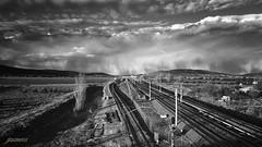 Tormenta de nieve (Argos351Photo) Tags: winter bw snow storm blanco de heaven y nieve negro railway bn ave cielo tormenta invierno juanjo zamora ferrocarril