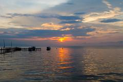 Sunset (Gerwin Filius) Tags: ocean sunset vacation sun water indonesia pier vakantie zonsondergang northsulawesi zon indonesie thalassa oceaan steiger duikvakantie canonefs1755mmf28isusm canon1755mm canon7d noordsulawesi