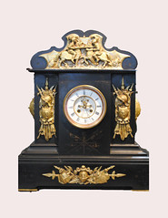 Large French Marble Mantel Clock