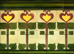 Green Tiles (sbox) Tags: flowers artnouveau tiles artdeco artsandcrafts