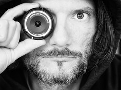 The Photographer's Eye (Al Fed) Tags: camera eye hair lens hoodie al borg olympus behind cyborg sal selfie lichtblick 20160516