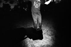 flash the board (niki altmann) Tags: vienna wien leica bw monochrome evening abend blackwhite flash xp2 skateboard sw weiss ilford schwarz voigtlnder 21mm