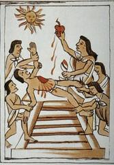 Nonelective Cardiectomy (David K. Edwards) Tags: mexico blood heart pyramid aztec drawing religion sacrifice sahagn flintknife newspain