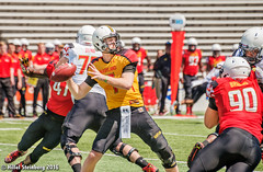 Maryland_White_on_Red_20160416_0476.jpg (hillels) Tags: park game college sports field sport photography one football spring team dj outdoor stadium maryland capitol practice terps byrd durkin collegepark testudo byrdstadium terp capitolonefield djdurkin