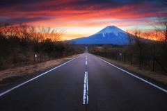 Mount Fuji at sunrise (Structuresxx Photography) Tags: winter sky mountain nature beautiful weather japan season landscape twilight fuji view scenic mount shizuoka mtfuji yamanashi