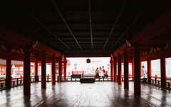 Itsukushima (Mushi Kid) Tags: itsukushima miyajima japan hiroshima temple red nikon d750 24mm travel shadows