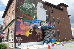 day two of mural installation (tcd123usa) Tags: leicadlux4