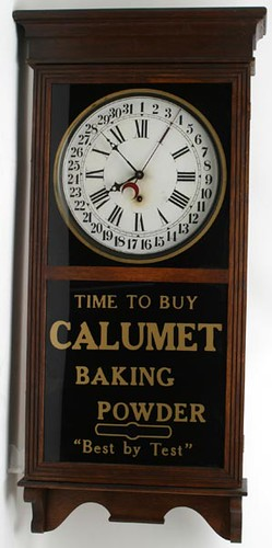 Calumet Baking Powder Oak Regulator Wall Clock ($357.50)