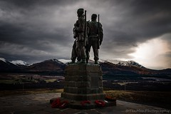 Memorial (jasonmgabriel) Tags: mountains statue clouds landscape scotland memorial wwii fields commando poppoes