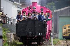 Pink SL at Wakasa Railway (26) (double-h) Tags: sl tottori jnr steamlocomotive c12   eos6d   pinksl wakasarailway  c12 ef100400mmf4556lisiiusm c12167 wakasastation classc12 c12 sl