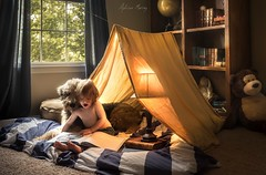 Indoor Camping (Adr.murray) Tags: family light camp dog home fuji read fujifilm airedale xt1 campinh