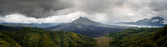Panorama of Mount Batur, Bali Indonesia (HakiimMislam) Tags: travel sky bali panorama cloud mountain canon indonesia landscape cloudy outdoor sony hill peak wideangle mountainside hdr batur digitalblending