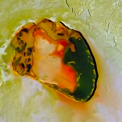 Io - Tupan Patera - October 2001 (Kevin M. Gill) Tags: volcano space nasa io jupiter jpl galileo patera tupan galileanmoons tupanpatera