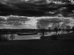 Boat on the river (Geert Theunissen) Tags: bw monochrome boot maas niers gennep milsbeek genneperhuis