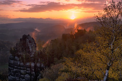 Sächsische Schweiz (christian.denger) Tags: sunrise canon landscape photography sachsen sächsischeschweiz elbsandsteingebirge badschandau schrammsteine eos6d 1635mmf4l chrisdenger wwwchrisdengerde