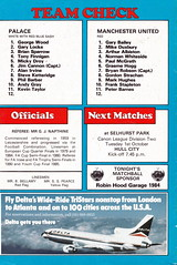 Crystal Palace vs Manchester United - 1986 - Back Cover Page (The Sky Strikers) Tags: road park cup magazine manchester milk official crystal united palace to british eagles telecom hummel wembley programme 50p matchday selhurst