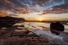 Low Tide (Images by Ann Clarke) Tags: ocean clouds sunrise rocks tide low australia coastal nsw beaches northern tummeretta shelfheadland