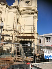 Town hall renovations (Figgles1) Tags: town hall scaffolding halls scaffold townhall renovation fremantle iphone img1426