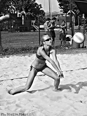 PicsArt_05-30-11.47.05 (giuliapompili) Tags: blackandwhite woman beach girl sand volleyball beachvolley bagher