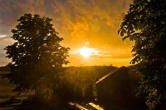 Coucher de soleil pluvieux (Denis Vandewalle) Tags: sunset sky sunlight nature rain landscape pluie nuages paysage coucherdesoleil pentaxk5