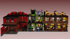 Western Bakery And Laundry And Fire Station back 2 (RedRoofArt) Tags: lego moc ldd western town cowboy