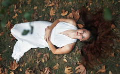 Kelly (reecord2) Tags: autumn portrait nature leaves canon 50mm blueeyes naturallight pale redhead fullframe redhair 6d tiffen whitedress richardsheehan