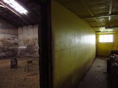 IMG_6917 (NapoleonIsNotDead) Tags: light shadow abandoned dark weird iceland wire ancient iron paint shine gloomy farm creepy warehouse horror lonely feelings obscure selfoss