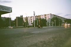 Somewhere in Arles (thewhitestdogalive) Tags: fun portrait girl street night beauty bokeh blur outfocused car light dark urban france arles redhir riccardobandieraphotography riccardobandieracom analogue analog film filmisnotdead
