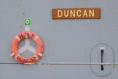HMS Duncan (pda87) Tags: liverpool pier boat ship head navy duncan warship hms