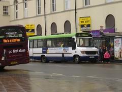 Notts&Derby 299 Derby (Guy Arab UF) Tags: street bus buses mercedes benz derbyshire albert 1999 beaver derby 299 plaxton nottsderby o814d wellglade wellgladegroup s299ual