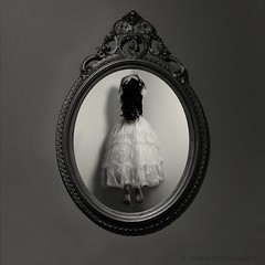 11/52 Beholder ([ theresa ]) Tags: white black art beauty mystery dark square photography mirror w dream levitation story theresa dreamy nightmare concept melancholy conceptual aspen beholder lebane