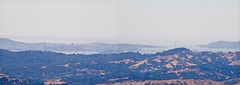 San Francisco from Mount DIablo - panorama Version 2 (wbaiv) Tags: summit mount diablo contra costa county olympus digital ep2 legacy om1 lens san francisco bay area sacramento river delta outdoor landscape mountain side islands golden gate bridge downtown gray day