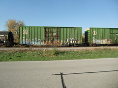 10-08-10 (39) (This Guy...) Tags: road railroad car train graffiti box graf rail rr traincar boxcar graff 2010