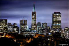 San Francisco Skyline (Stefan Bock) Tags: sanfrancisco skyline usa nacht night blauestunde bluehour architektur architecture cityscape kalifornien california