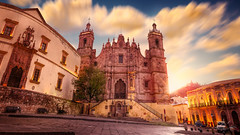 Iglesia de Santo Domingo, Zacatecas (http://sotochristian2.500px.com/) Tags: morning sunset sky panorama sun church sunshine clouds sunrise landscape mexico photo stitch cathedral cloudy outdoor catedral iglesia nd zacatecas cloudscape santodomingo neutraldensity autopanopro ninjanodal wclx100 fujifilmx100t