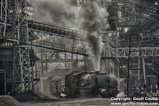 Class 15A 395 passing throug the washing plant