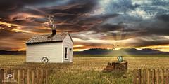 Casa de Campo (juanpi_ulloa) Tags: house photoshop de landscape casa campo wonderland mattepainting