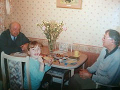 Finding old photos (Elysia in Wonderland) Tags: family flowers dinner table uncle room ron fred dining grandad elysia