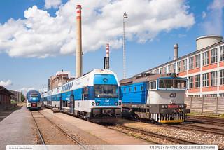 471.070-3 + 754.079-2   trať 331   Zlín-střed