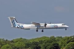 "G-ECOR DHC-8Q 402 Flybe MAN 03-06-16 (PlanecrazyUK) Tags: man manchester 402 030616 ringway egcc flybe airport"" ""manchester dhc8q gecor"