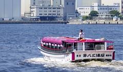 Yakatabune at Tokyo bay (sapphire_rouge) Tags:  suijobus rainbowbridge beach bay fortress japanese     himiko tokyobay shore coast  japan bridge  seaside aoumi    wangan rinkaihukutoshin kotoku