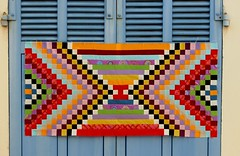 Kilim : projet en cours (chabronico) Tags: solids unis quilt patchwork