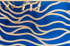 Undulation (Jill Clardy) Tags: sf california blue white abstract art wall museum modern lights san francisco stage moma cobalt 20160505mg0026