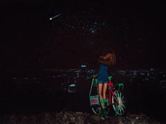 Nagareboshi (shooting star) (Klio.13) Tags: anime cute bicycle night toys dolls shootingstar dollphotography toyphotography handmadeoutfit disneyfairies dollbike sonyarose dollhybrid