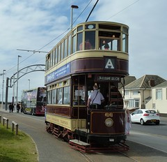 20160618 Bolton 66 at Starr Gate, Blackpool (blackpoolbeach) Tags: heritage gate tram 66 bolton streetcar tramway blackpool starr terminus